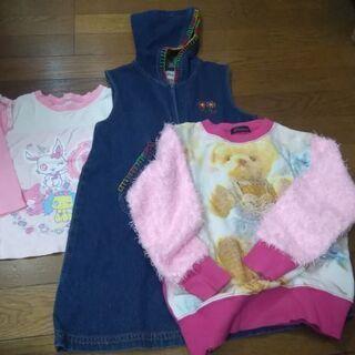 120㌢子供服3枚セット、女の子用、秋物、中古です。