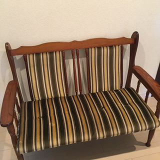 椅子 シマシマ 2人用