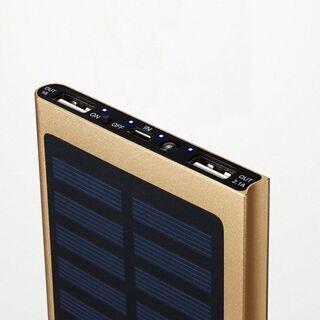 【新品】 ソーラーチャージャー スマホ充電器 薄型 大容量 太陽...
