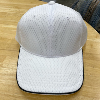 【未使用微かな汚れアリ】体操帽子 白