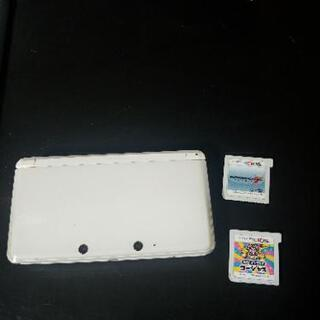 (取引中)3DS(ホワイト、ペンなし)メイドインワリオ・マリオカ...