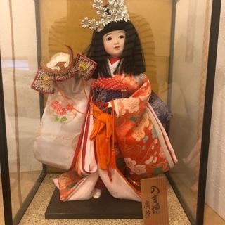 廣紫の日本人形