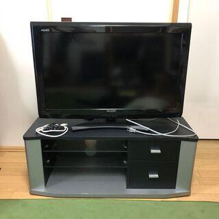 SHARP LC-32E9 32型テレビとテレビ台のセット ※リ...