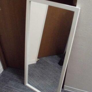 JM8014) 立て鏡 姿見 (ホワイト)幅:約40cm 高さ:...