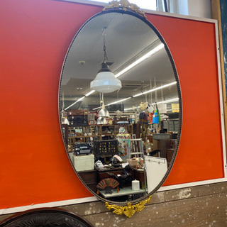 レトロ ミエミラー 壁掛け アンティーク 装飾 楕円 鏡