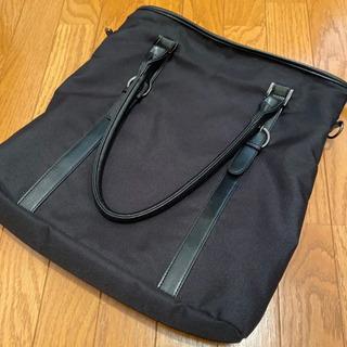 Mru(エムアールユー) トートバッグ メンズ 切替トート ブラック