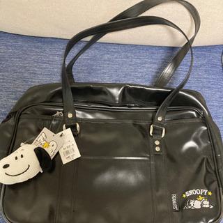 スヌーピー合皮の学生鞄?
