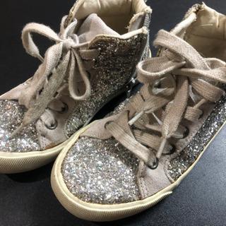 子供靴サイズアウトの為出品18センチ