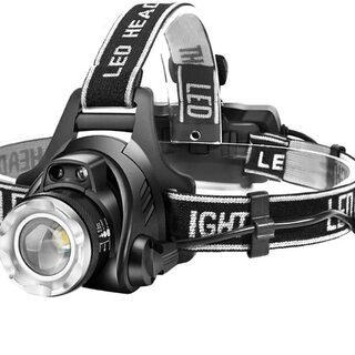 LEDヘッドライト USB 充電式 1600ルーメン 作業用ヘル...