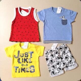新品 半袖Tシャツ ノースリーブ ハーフパンツ 4枚セット 60...