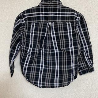 【ネット決済】コムサ チェックシャツ サイズ90