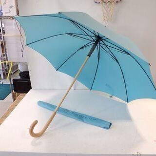 agnes b. アニエスベー 長傘 雨傘 90㎝ 水色系 カバ...