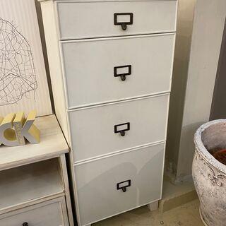 チェスト 収納家具 収納 ホワイト 展示品 中古品