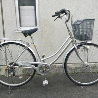 【自転車】27インチ 6段変速 シティーサイクル