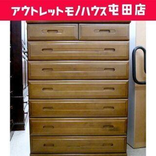 7段チェスト 整理タンス おやこ鹿の家具 85×121cm ☆ ...