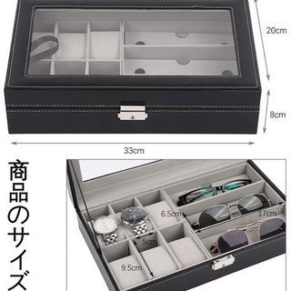 ウォッチサングラスボックス、PUレザー6個の時計、3組のメ…