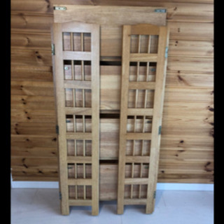 超美品‼️便利にたためる棚 本棚 木製 折りたたみ本棚