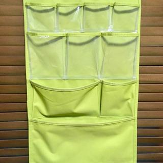 【引き渡し終了】壁面収納 estraria(ストレリア)のウォールポケット ライムグリーン の画像