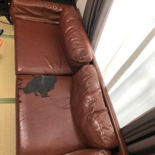 合皮ソファーの画像