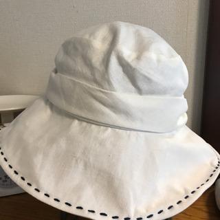 美品 神戸マキシン Maxim 白い麻の帽子