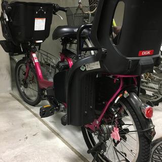 ヤマハ パスキッスミニ 電動自転車 アシスト ピンク色 後輪新品タイヤ