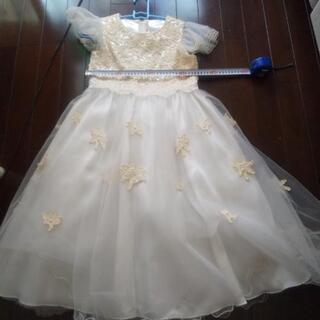 プリンセスごっこにどうぞ!白のドレス 黄ばみあり used品