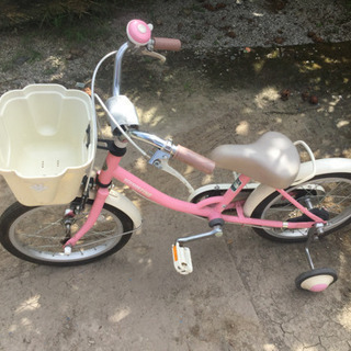 14インチ補助輪付き自転車