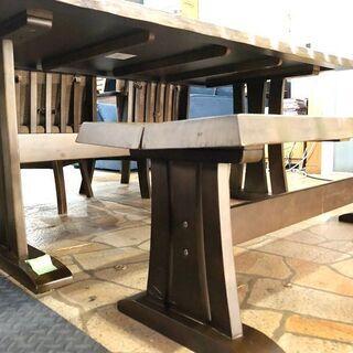 札幌近郊 送料無料 ダイニングテーブル4点セット 4人掛け ベンチシート 幅150cm×奥行90cm×高さ66cm - 売ります・あげます