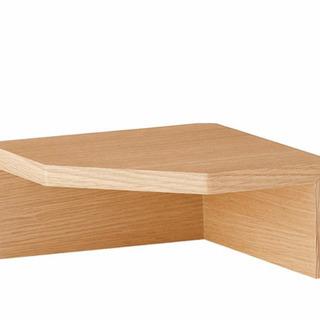 【ネット決済】壁につけられる家具 コーナー棚棚 オーク材