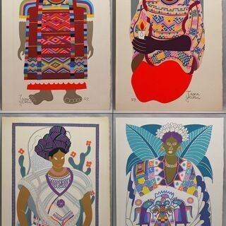 【AR】伊藤高義 版画集 メキシコ インディオの世界 EP 12作品