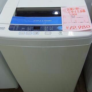 AQUA アクア 6kg 全自動洗濯機 AQW-S60B 201...
