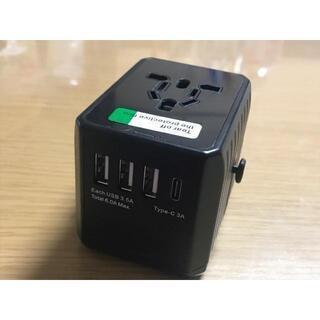 【新品・未使用】海外用変換アダプター(USB付)の画像
