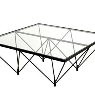 【中古/おしゃれなガラステーブル】お手頃価格で譲ります