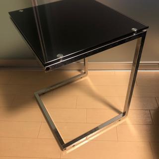 【値下げ】黒ガラス サイドテーブル