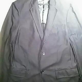 (Lサイズ スリム)①ジャケット(黒色)UNIQLO