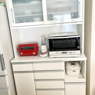 美品!!ニトリ食器棚(キッチンボード クリスナ120 白)