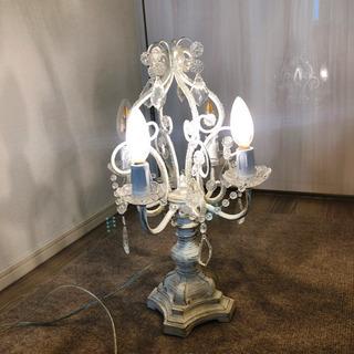 LEDシャンデリア風テーブルランプ4灯