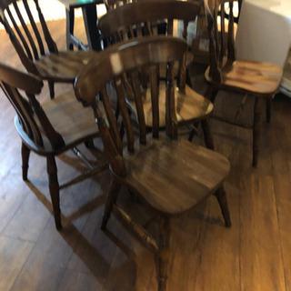 ブラウン椅子 木材チェア