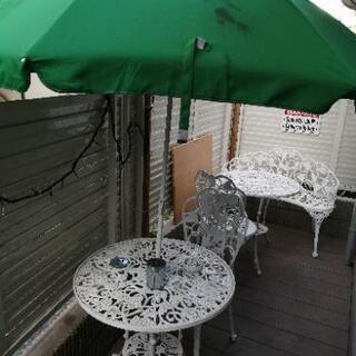 最終値下げ【中古】ガーデンテーブル&チェア&ベンチ(6点)