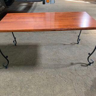 北欧風 座卓テーブル ローテーブル 木製 アイアン ヨーロ…