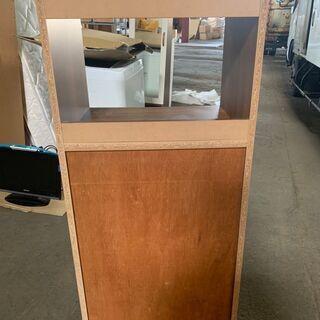 アンティーク調 食器棚 木製 ダークブラウン 木目 配送OK 良品 - 札幌市