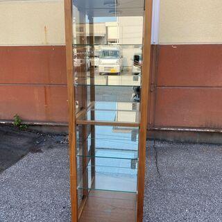 シェルフ 飾り棚 フリーラック 棚 茶 3面ガラス 展示品 中古品