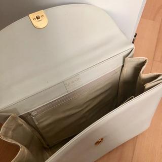 ホワイト ハンドバッグ - 靴/バッグ