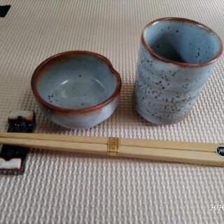 湯のみ,小皿,箸置き,箸セット