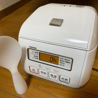 東芝 マイコンジャー炊飯器(3合炊き) グランホワイトTOSHI...