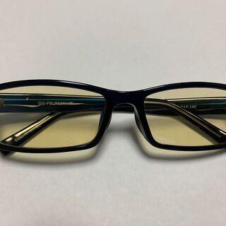 ELECOM ブルーライト対策眼鏡 ブラウンレンズ ラージ…