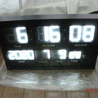 ☆新品☆LED 壁掛け角型クロック時計☆ホワイトLED☆38cm...