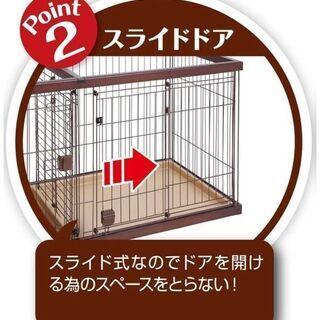 ペティオ犬用木製ケージ(幅109cm奥行52.5cm高さ60.5cm)新古品 1か月間のみ❕使用品 - その他