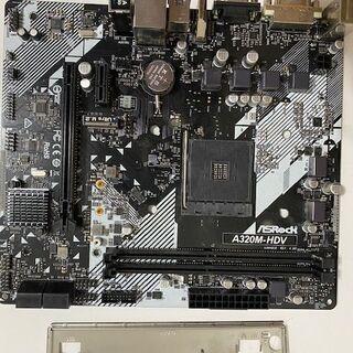 マザーボード ASRock AMD Ryzen AM4 対応 A320 チップ搭載 MicroATX A320M-HDV R4.0 動作確認 - パソコン