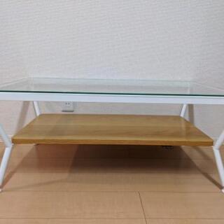 Francfranc ガラス ローテーブル ナチュラルの画像